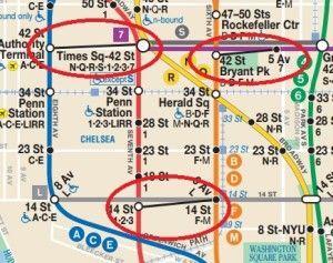 New York City Subway Map 2017.New York City Subway Pedestrian Transfer Ways Bucket List New