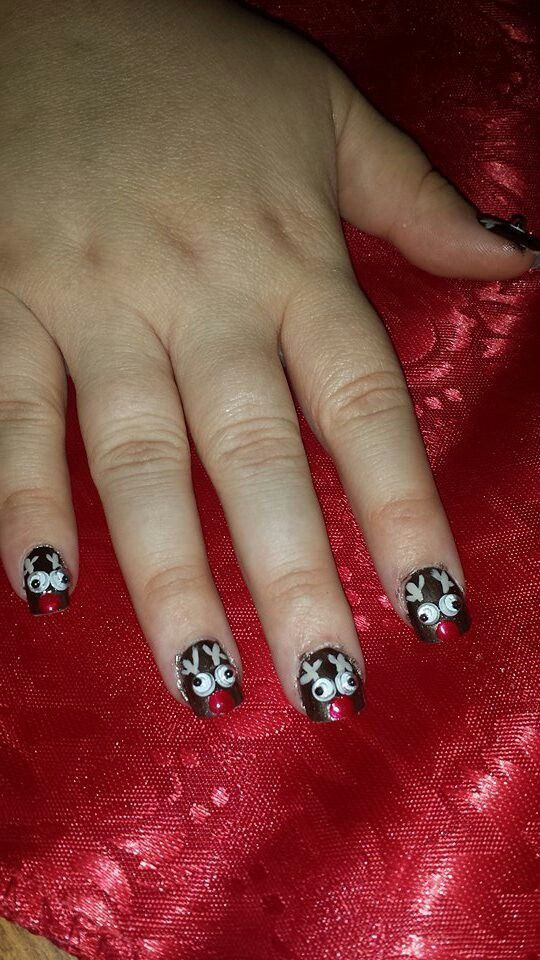 Cute christmas nails  my sister did