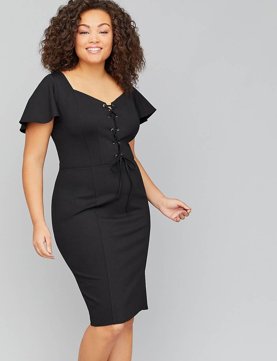 Lane Bryant Lace-Up Sheath Dress in 2019 | CLOTHING ~ FOOTWEAR ...