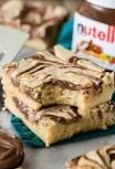 Nutella-Stuffed Blondies | A Cup of Jo