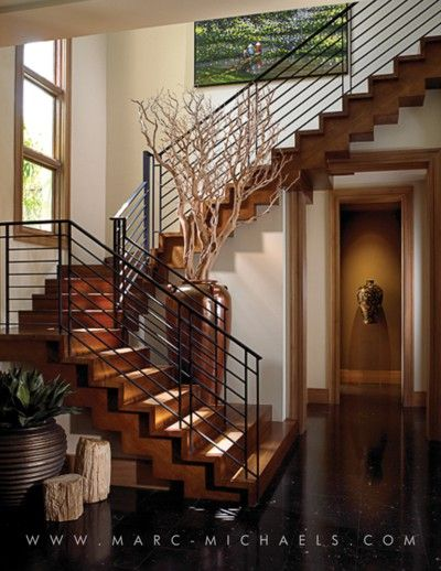 Staircase By Marc Michaels Inc Wrought Iron Stair Railing