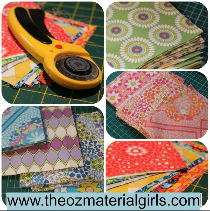 Rotary cut fabric charm squares perfect for your next quilt!