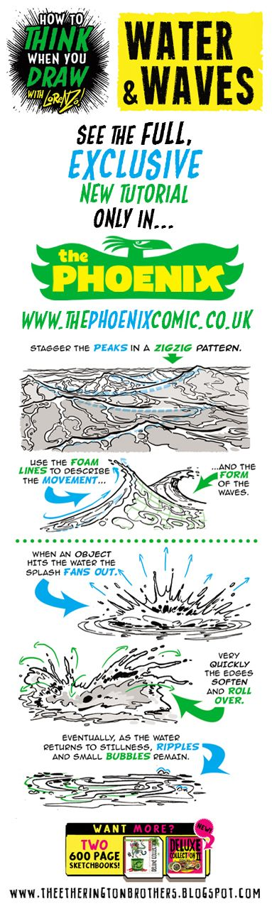 The Etherington Brothers: How to THINK when you draw WATER SPLASHES taster