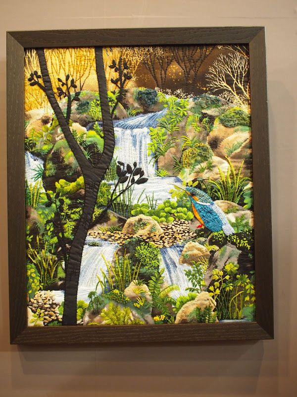 Tokyo International Great Quilt Festival 2013 - chi- - Picasa Web Albums A landscape quilt you would love to just walk in