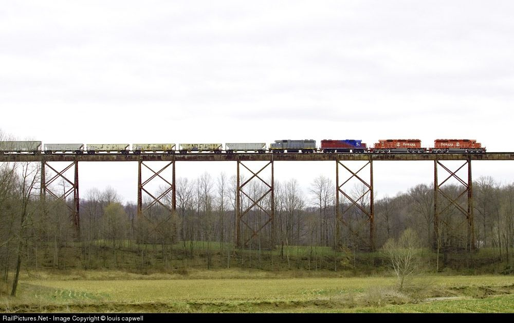 RailPictures.Net Photo: INRD 42 Indiana Rail Road EMD SD40-2 at Tulip, Indiana by louis capwell