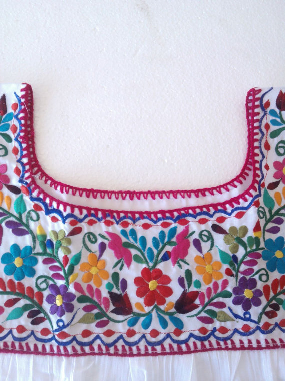Embroidery mexican Blouse, White mexican blouse, mexican embroidered ...