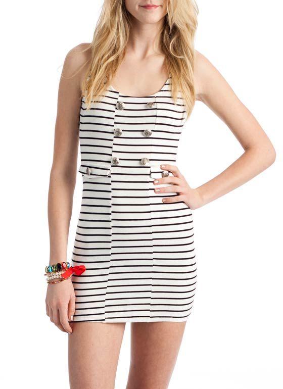 button stripe tank dress $22.50
