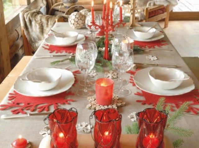 Deco table noel scandinave saison hiver magie de no l magic of christm - Deco table noel rouge ...