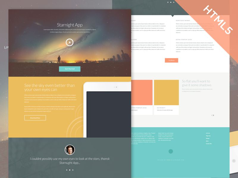 Website Template Freebie Starnight Html5Css3 Website Template  Website Css