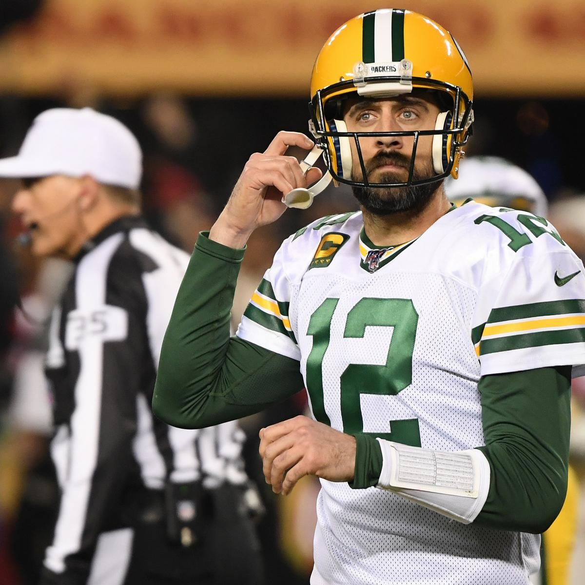 Packers Aaron Rodgers Says Window Is Open For Us After Loss To 49ers In 2020 Aaron Rodgers Bleachers Nfl New York Giants