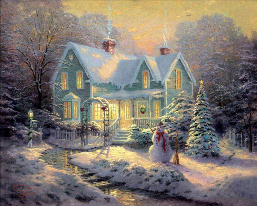 Волшебная зима в картинах Thomas Kinkade - Ярмарка Мастеров - ручная работа, handmade