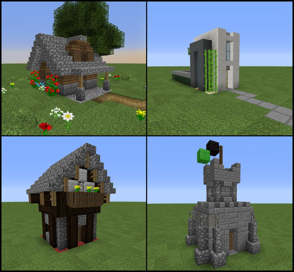 Easy Mini Minecraft Starter Homes (5X5) Impress Your Friends On