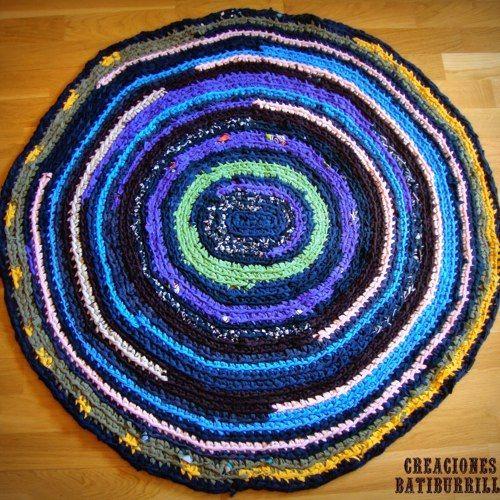 Patrón Alfombra multicolor de trapillo reciclado