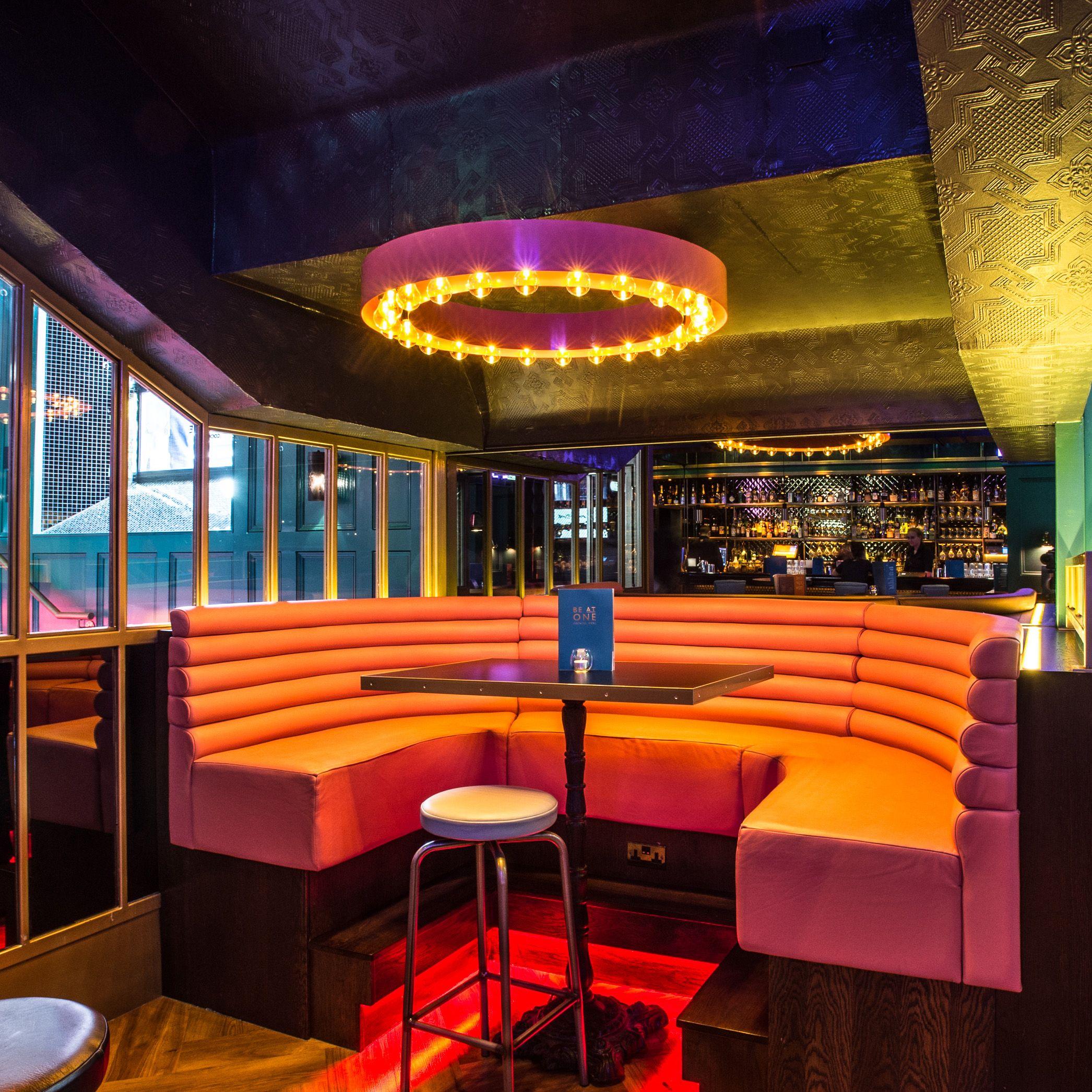 Be at one nottingham bar restaurant lighting