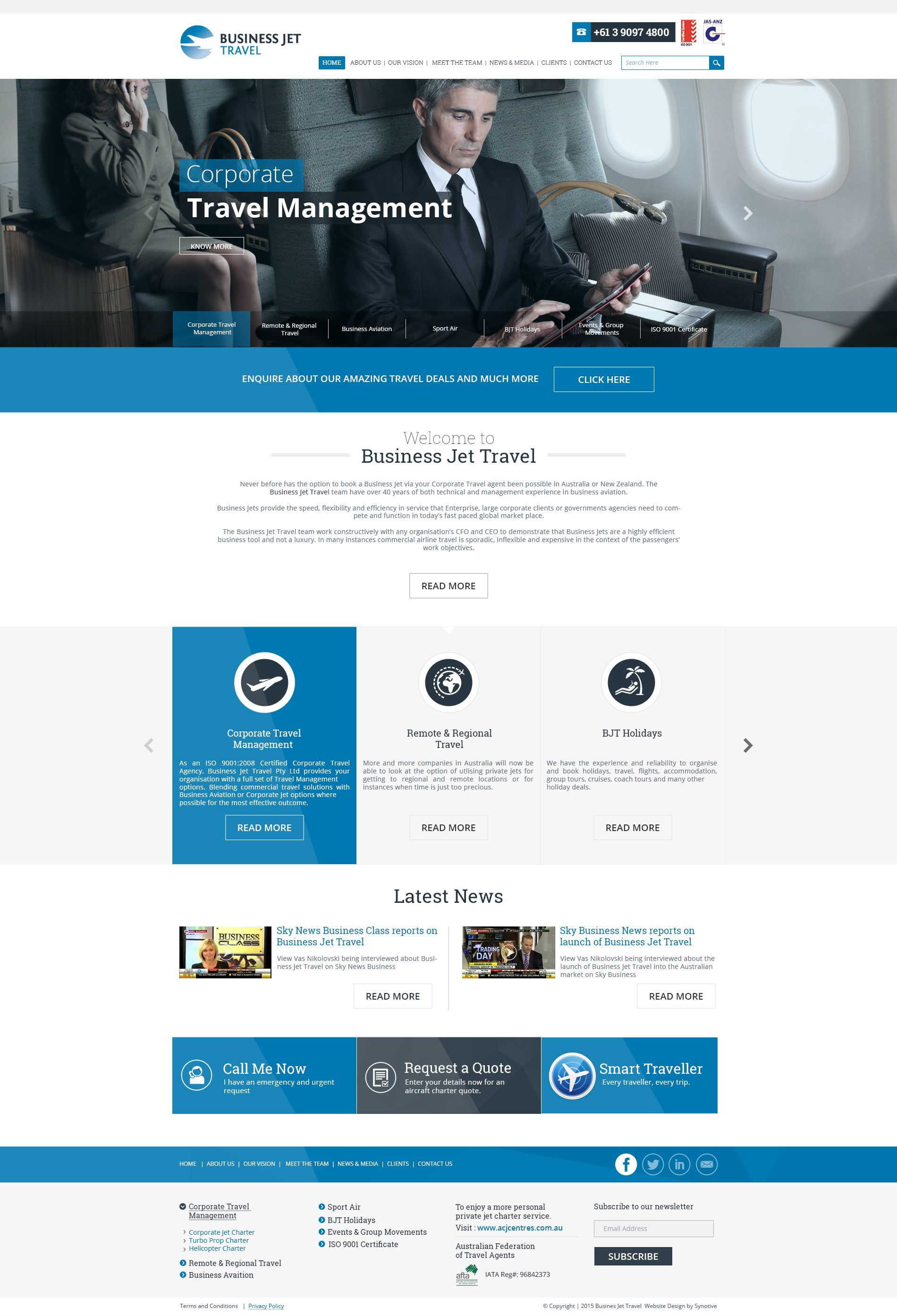 Business Jet Travel - BJT Travel Management | Web Design Projects ...