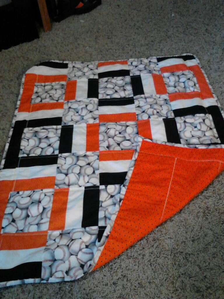 Giants Baseball Quilt Make It With Royal Blue Baseball