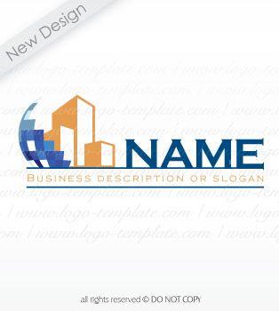 Online pre designed real-estate, construction logo template. 1 ...