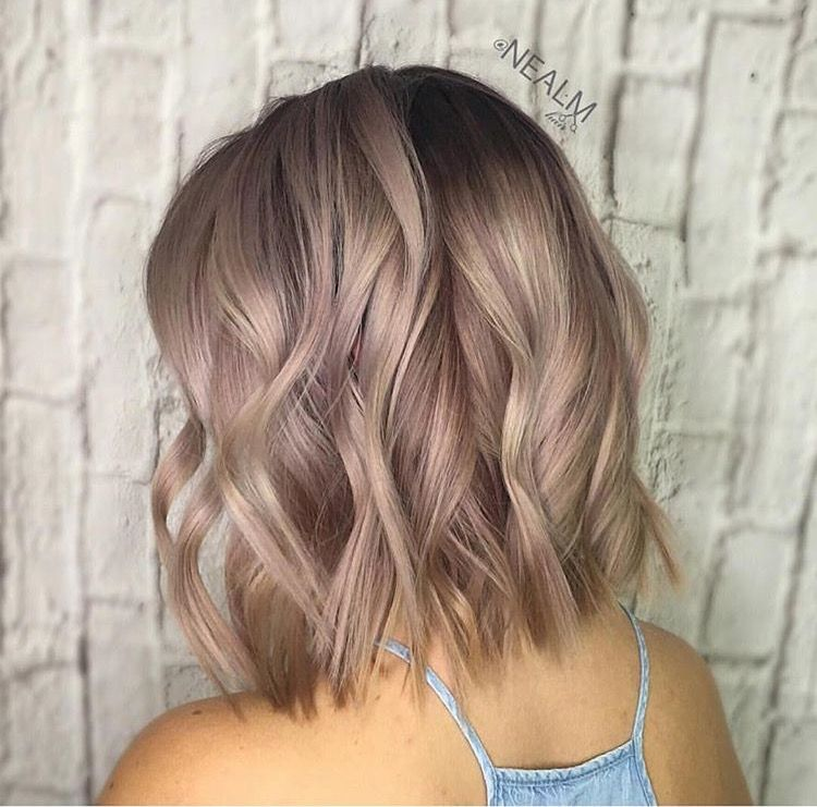 This Color Has Hints Of Rose Gold I Like It Trendy Hair Color