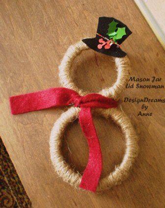 mason jar lid ornaments, christmas decorations, crafts, mason jars, seasonal holiday d cor, wreaths