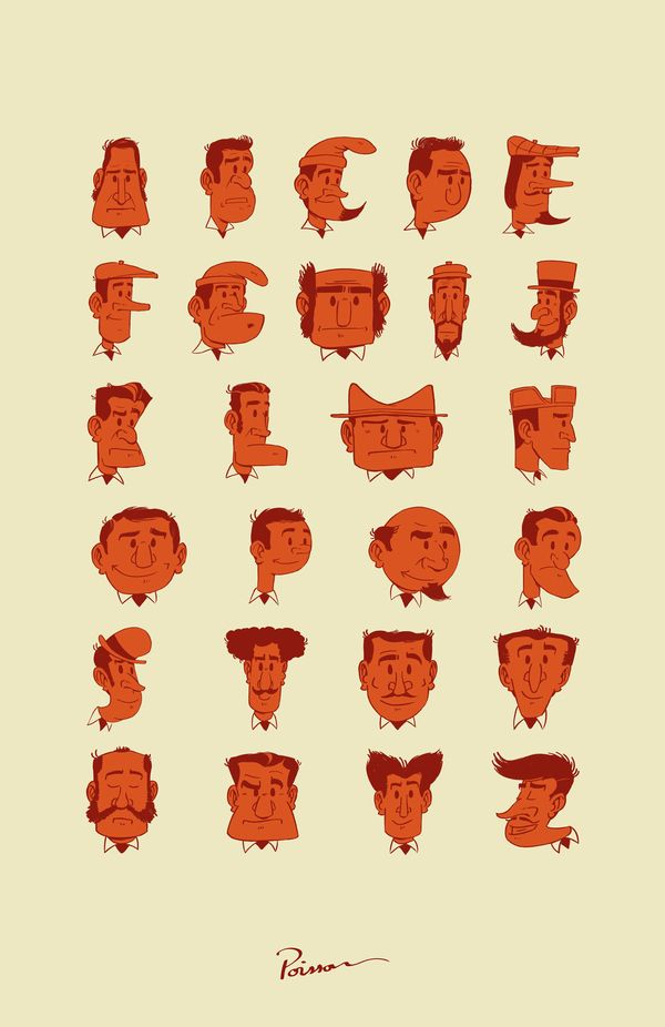 TypeFace by Julien Poisson, via Behance