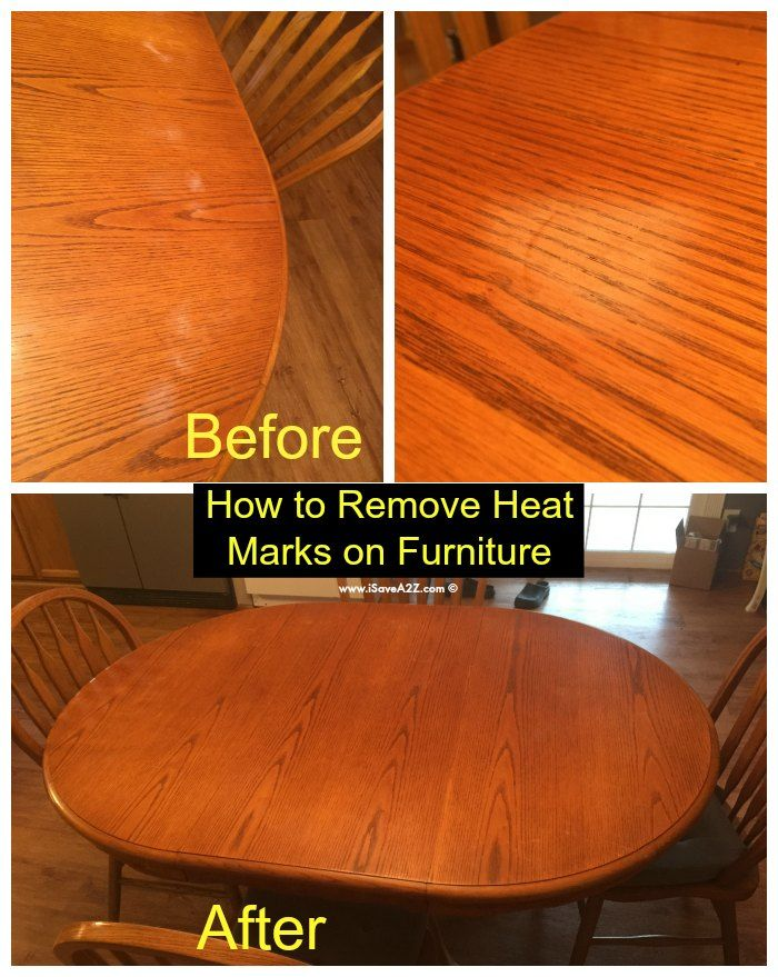 How To Remove Heat Marks From Furniture House Cleaning Tips