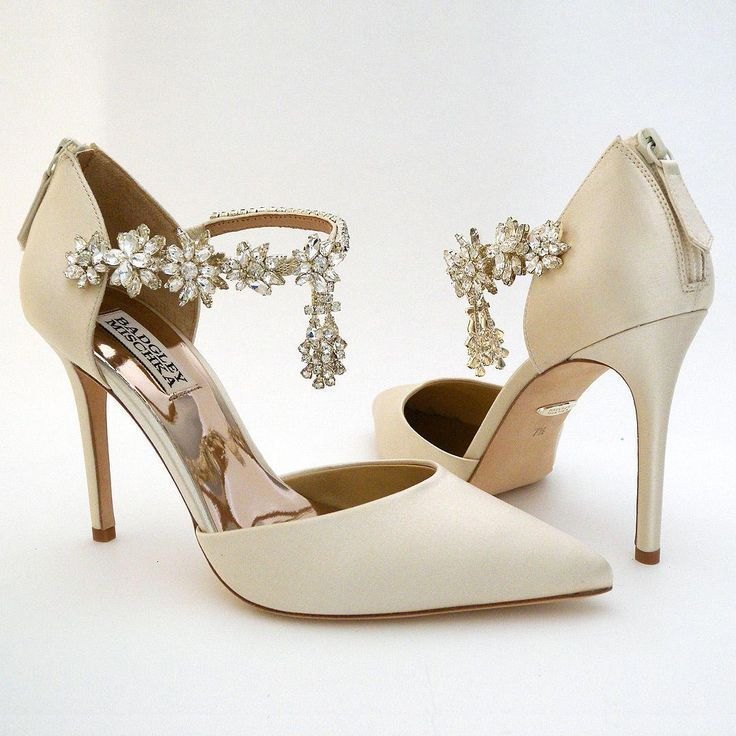Badgley Mischka Venom Ivory. Wedding shoes that bring back the lavishness of de ...