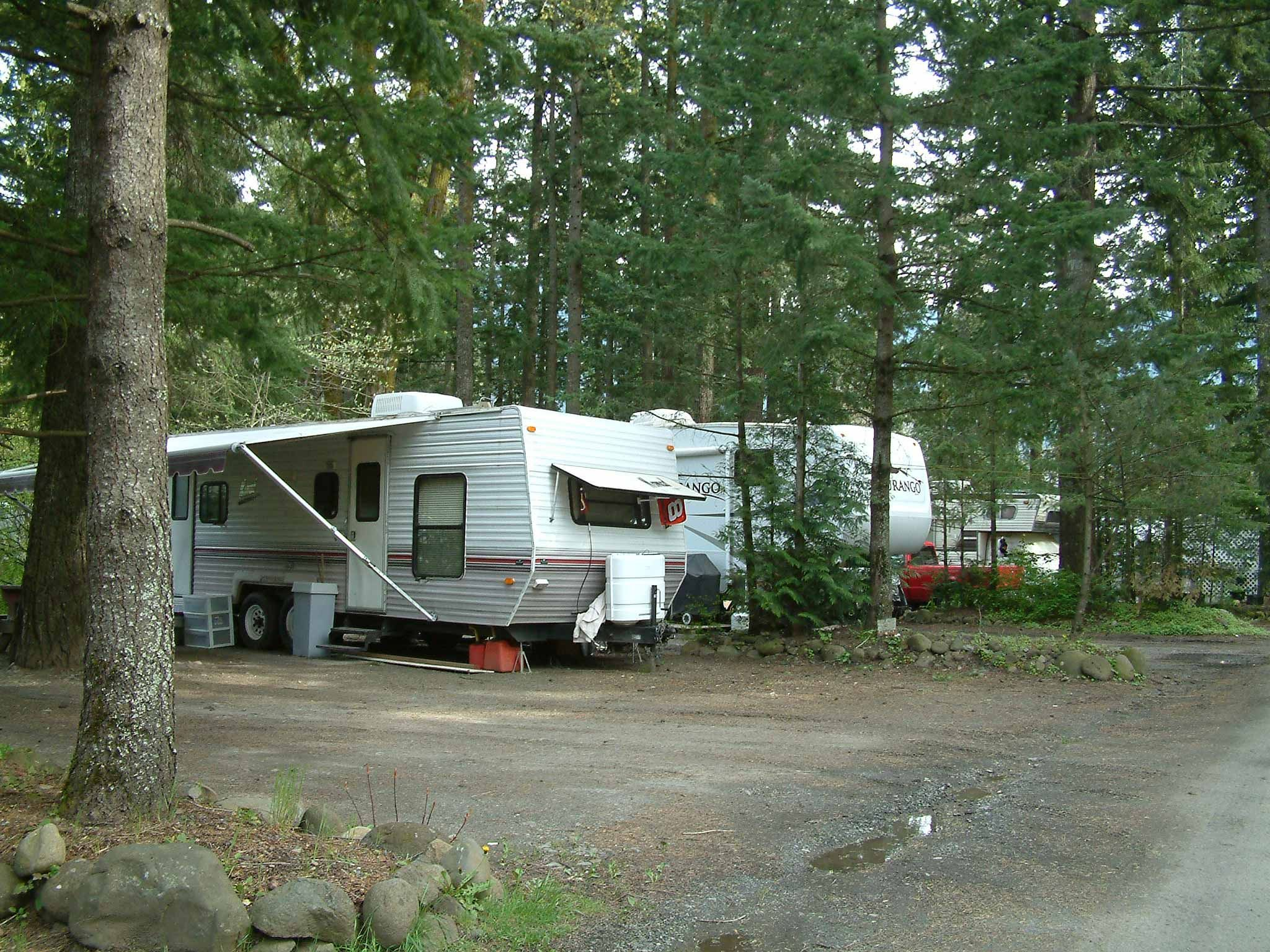 Campground rv park offers some secluded rv camping sites