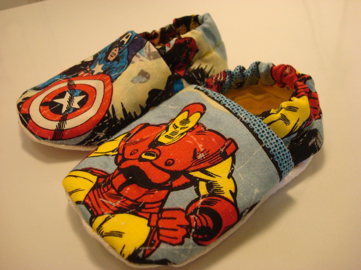 0aef8f9b41b68 THE+AVENGERS+baby+shoes+pick+from+Iron+Man+SpiderMan+by+haddybug,+$ ...