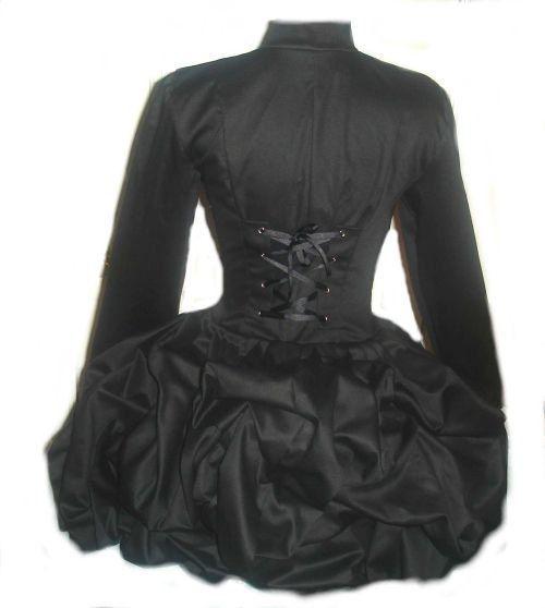 Steampunk Jacket Black Steampunk Jacket Military Bustle Corset Jacket Lolita Gothic Victorian Custom Size. $289.95, via Etsy.
