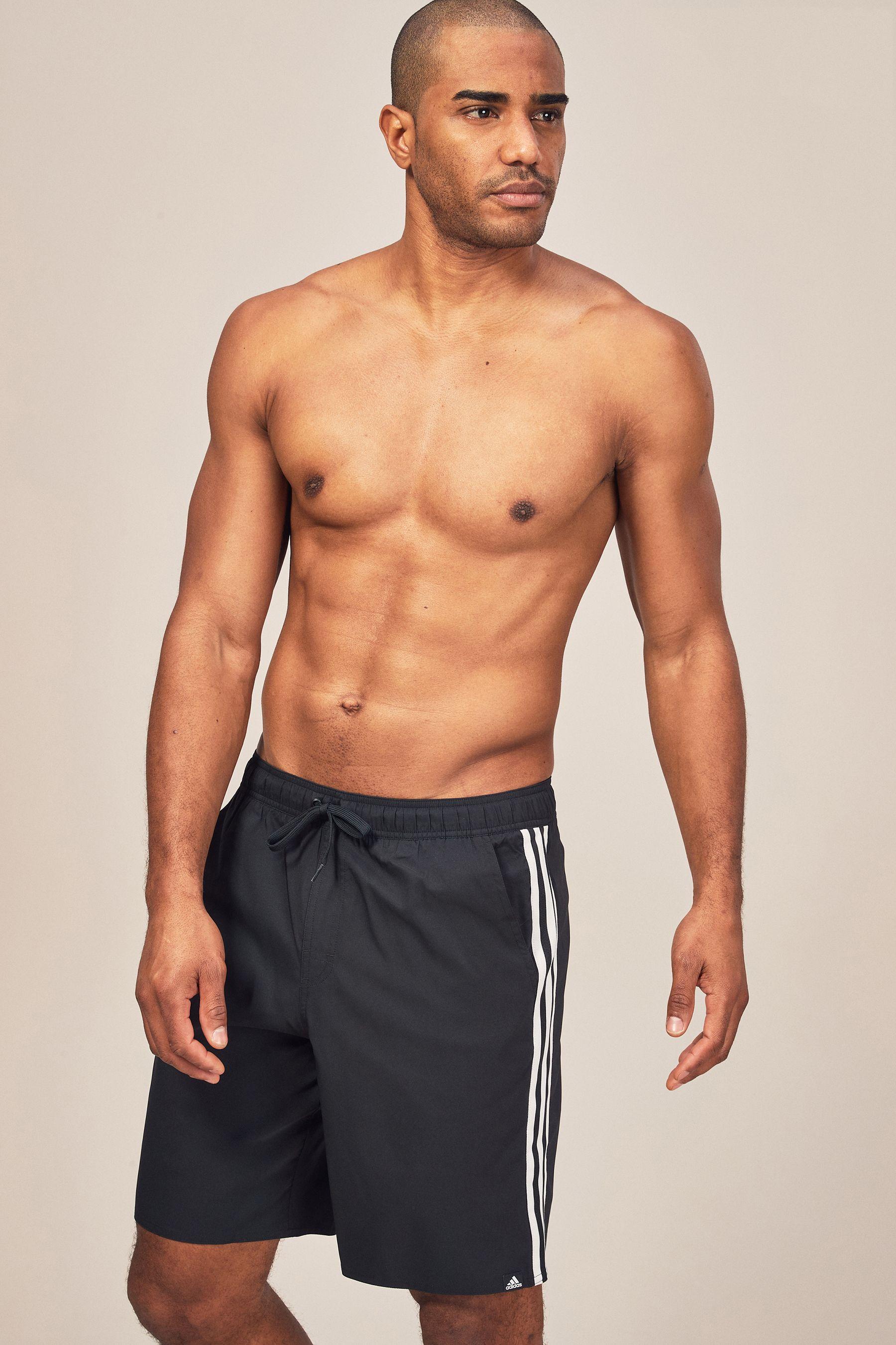 0dd9d589c2 Mens adidas 3 Stripe Swim Short - Black | Products | Swim shorts ...
