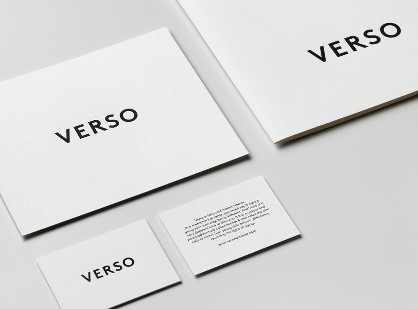 Verso Skincare | Business Card | Pinterest | Business cards and Logos