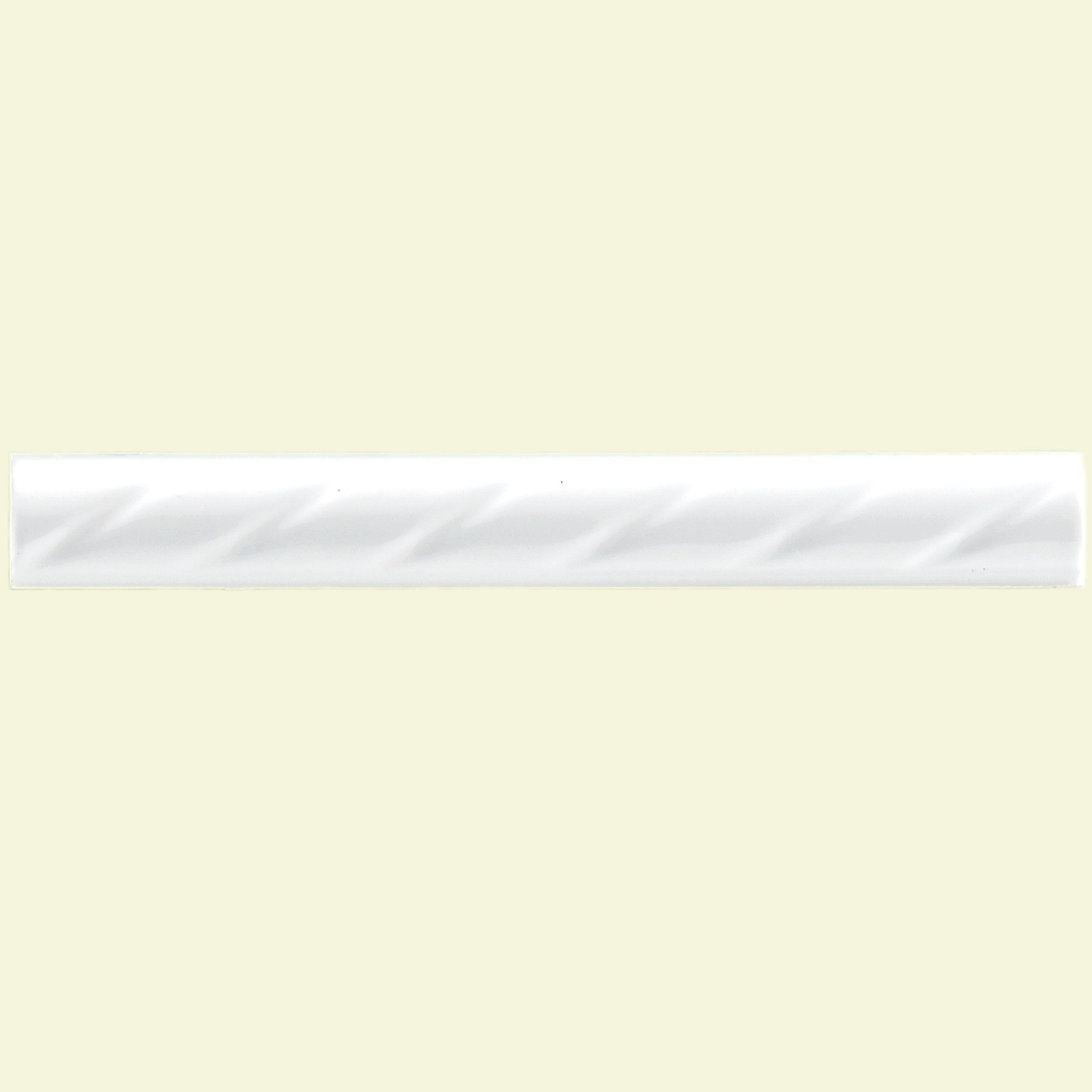 Somertile 1x8 In White Rope Pencil Ceramic Trim Tile Pack Of 12 1 X10 Case Size X 10