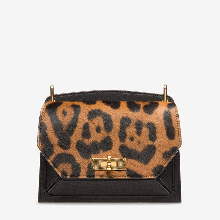 9954e07b9a1b Bally Women's goat leather and pony hair shoulder bag in black
