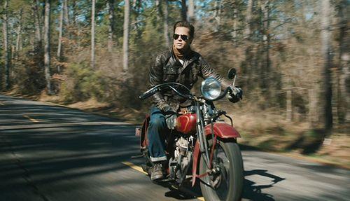 ec0b8270 Mens Fashion Leather Jacket Men Biker Fashion Photo Shared By. Brad Pitt,  'The Curious Case of Benjamin Button'