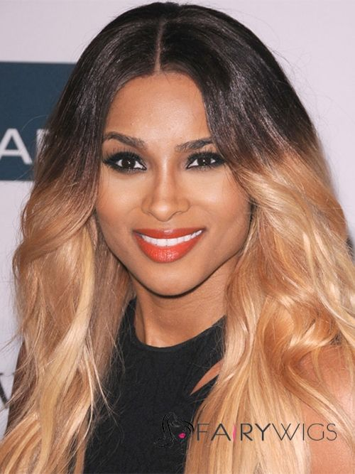Afro American Long Wavy Blonde African American Lace Wigs for ...