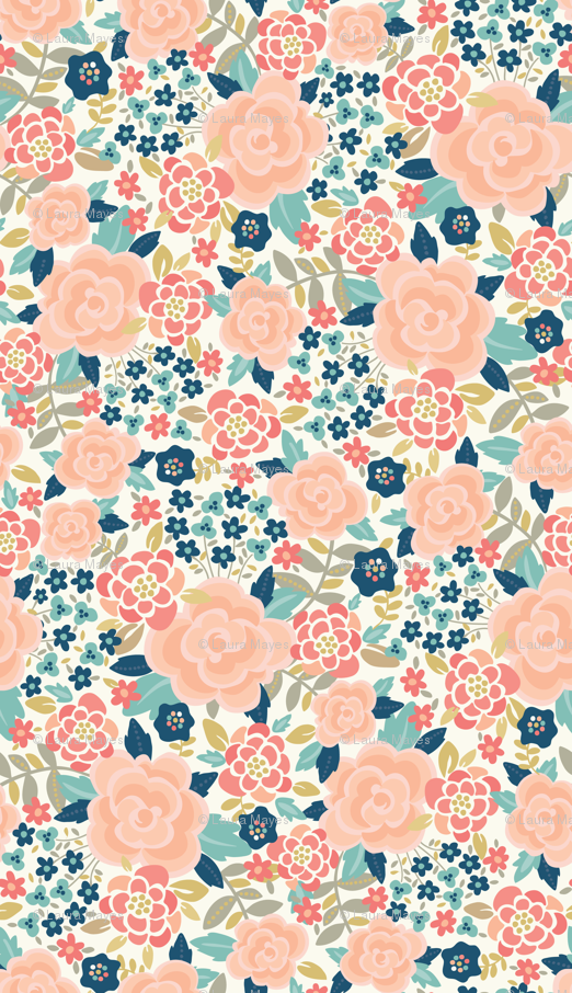 bold floral fabric, wallpaper & gift wrap - Spoonflower ...