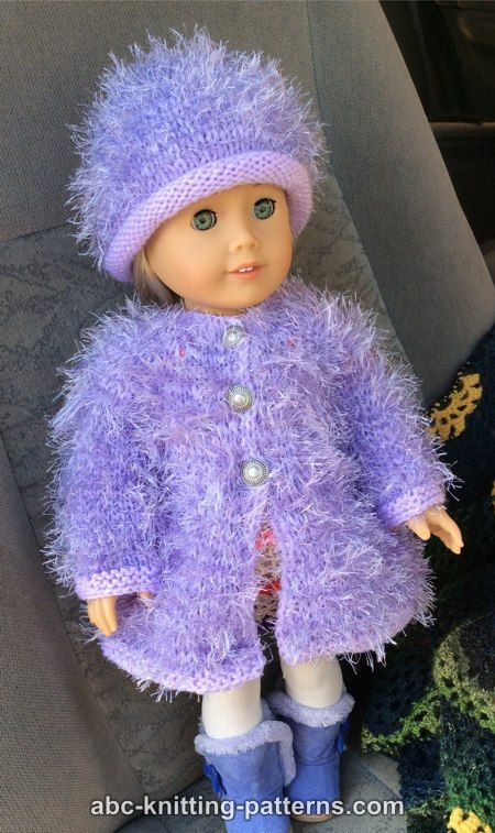 ABC Knitting Patterns - American Girl Doll Fur Coat | Knit,crochet ...