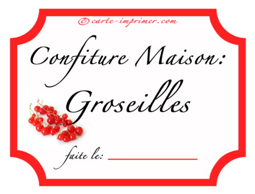 Favori étiquette, confiture de groseilles | For the Home | Pinterest  XQ61