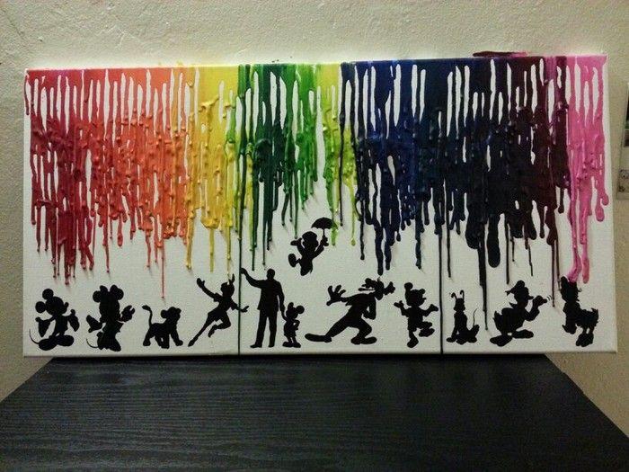 DIY Melted Crayon Wall Art | crayons | Pinterest | Melted crayons ...