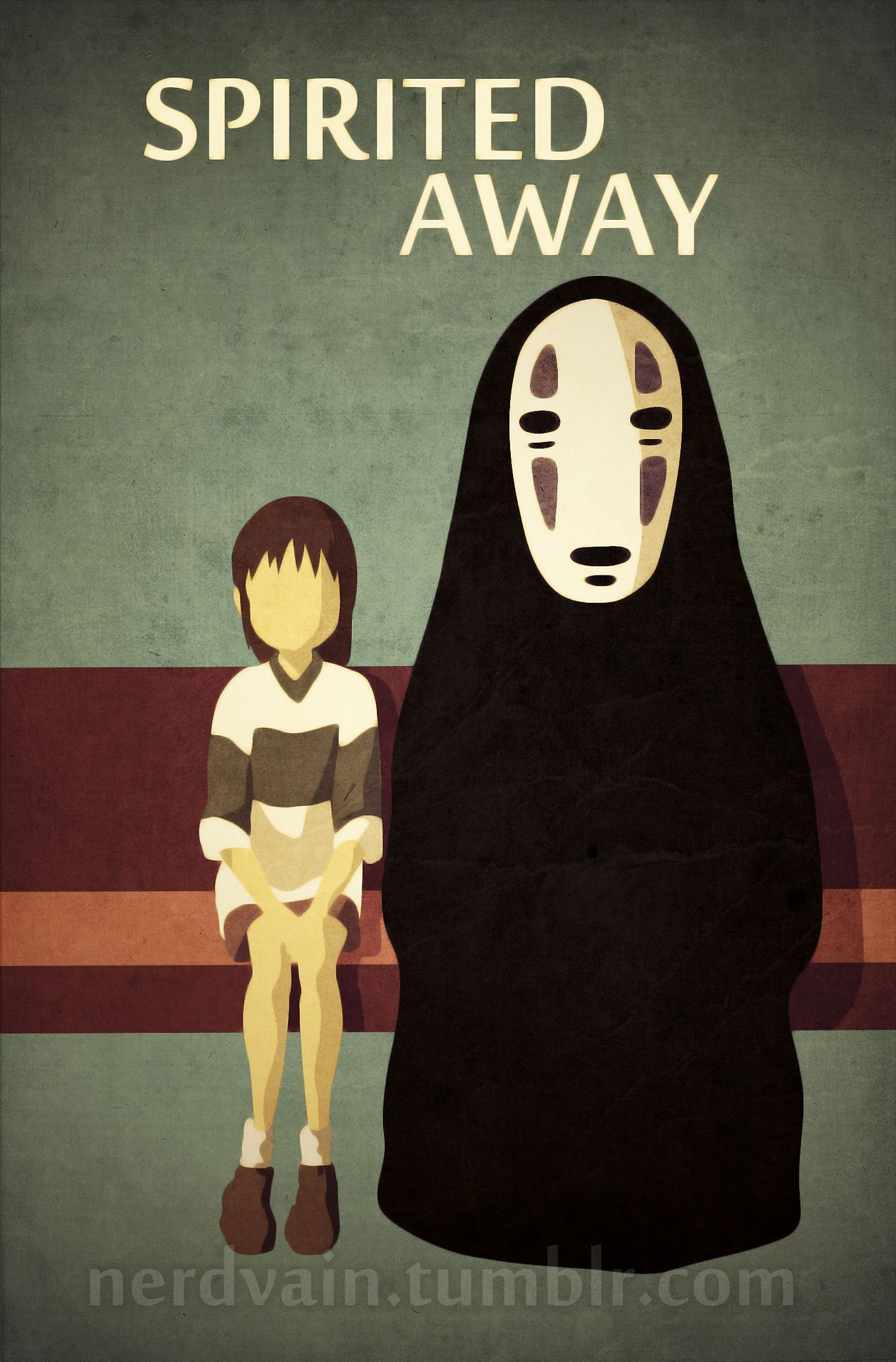 Spirited Away Poster i find it cool that she doesn't