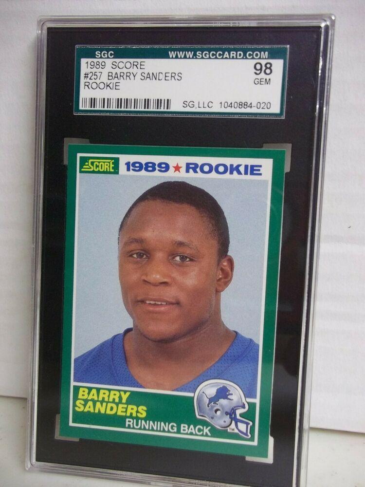 1989 score barry sanders rc sgc gem mint 98 football card