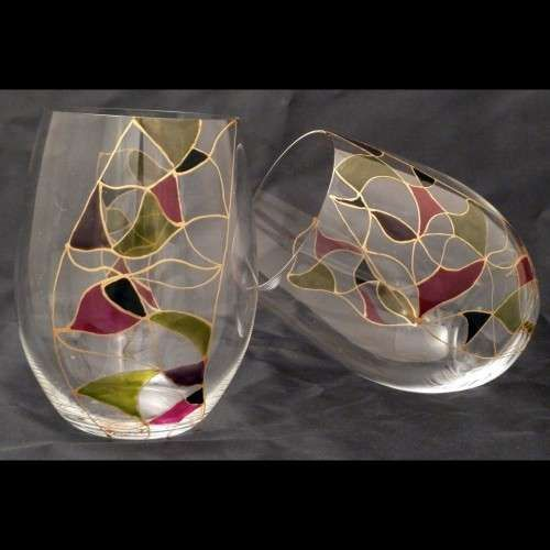 Wine Glass Painting Designs Google Search Glass