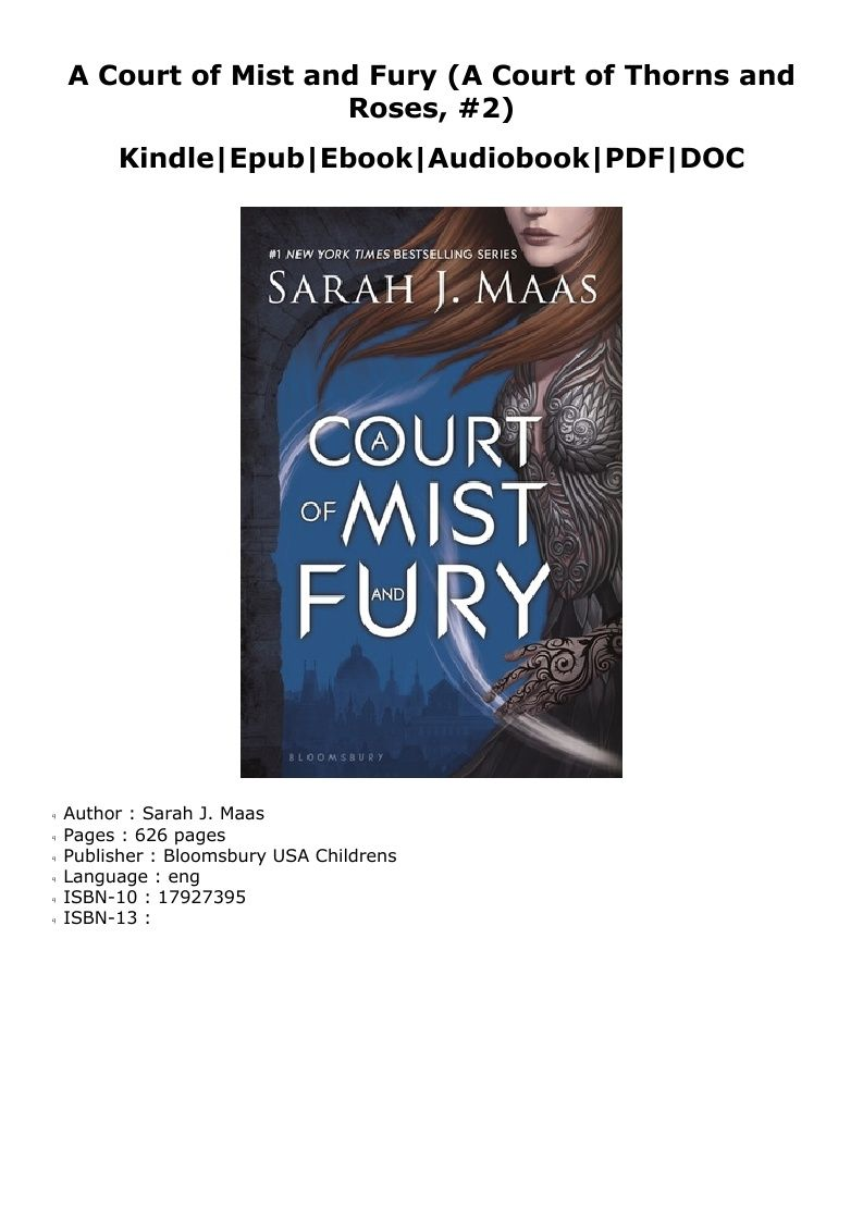 P D F A Court Of Mist And Fury A Court Of Thorns And Roses 2