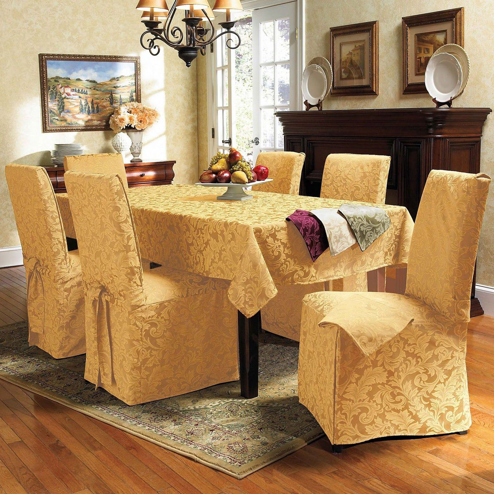 Dining Table Chair Covers Luxury dining room, Dining