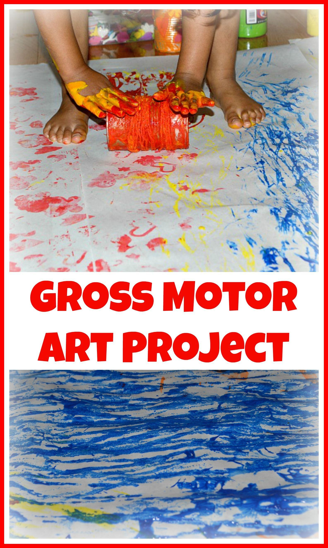 Gross Motor Art Activity