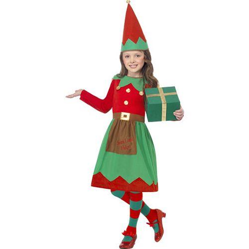 CHRISTMAS FANCY DRESS COSTUME # ELF BOY COSTUME MED AGE 7-9