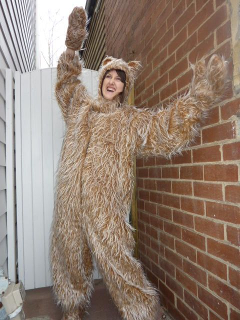Fuzzy Bear Adult Costume Fancy Dress Costumes Costume Hire