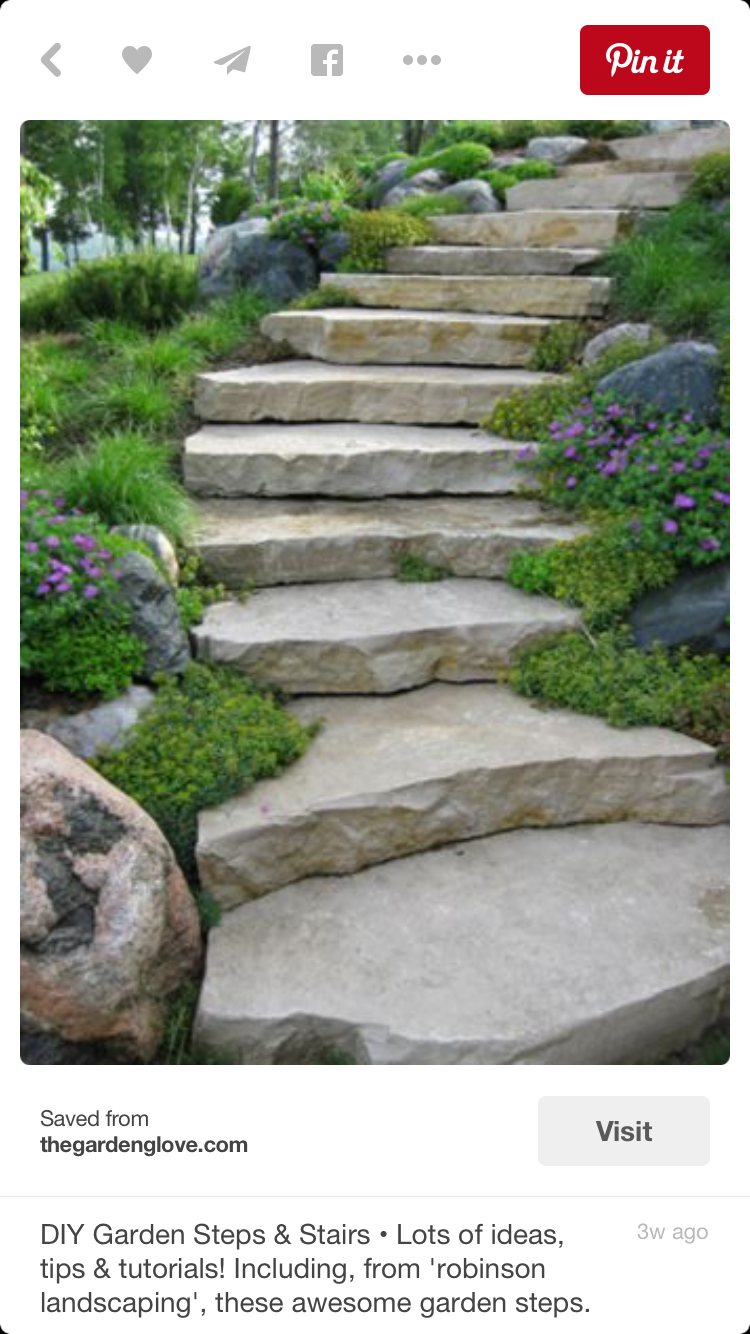 Pin By Tammy Hebel On Landscaping Garden Stairs Garden Steps Garden Walkway