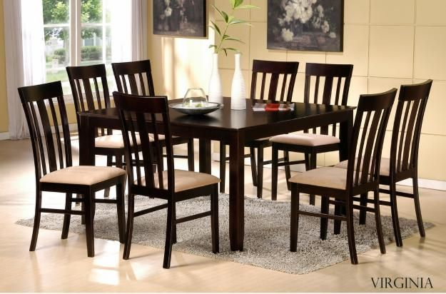 Dining Table 8 Chairs Set  Design Ideas 20172018  Pinterest Glamorous 8 Piece Dining Room Set Inspiration