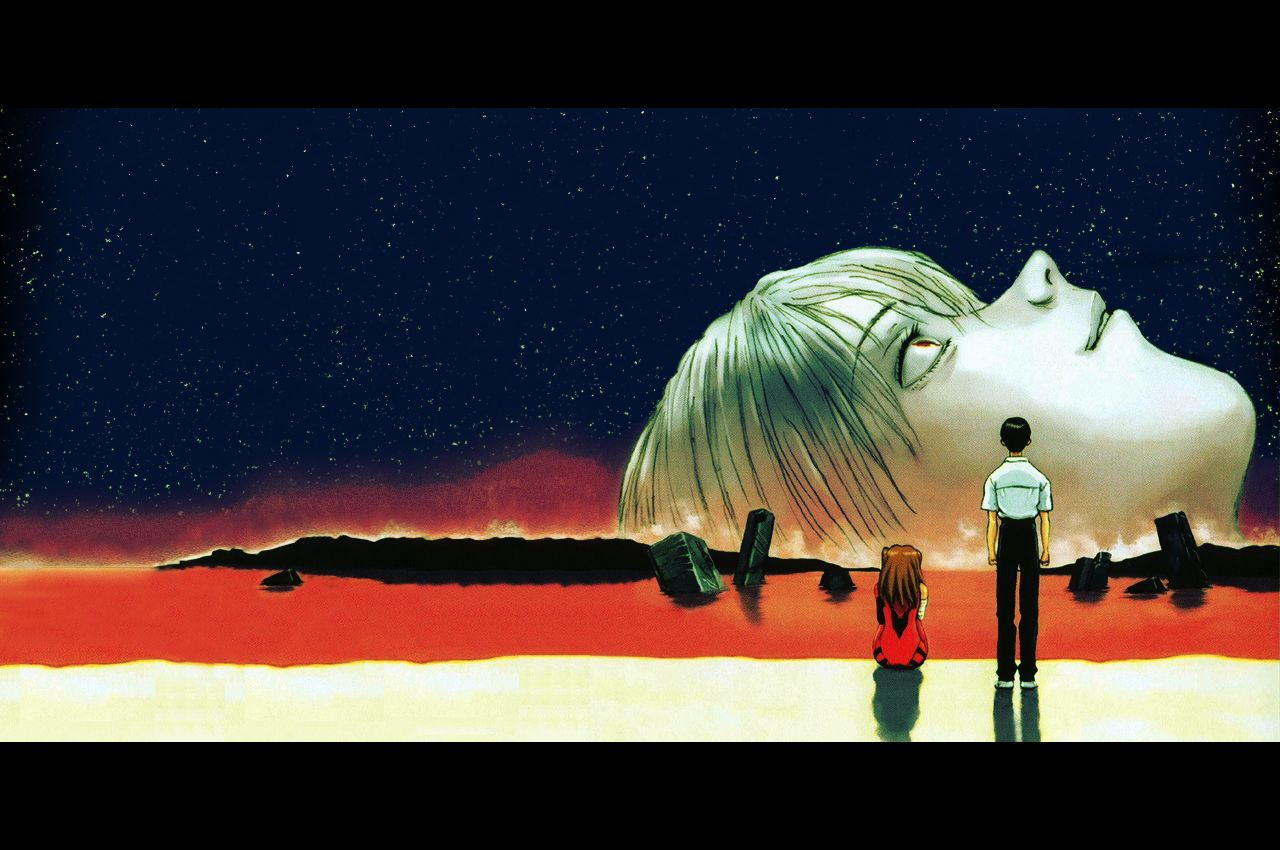 End Of Evangelion Rei Ayanami Lillith Asuka Langley Soryu Shinji Ikari Sea Of Lcl Jpg 1280 850 Evangelion Kartiny Neonovye Oboi